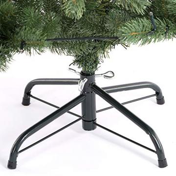 Casaria Weihnachtsbaum 140 cm LED Lichterkette Edeltanne Ständer künstlicher Tannenbaum Christbaum Weihnachten PE Grün - 6