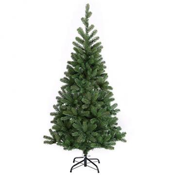 Casaria Weihnachtsbaum 140 cm LED Lichterkette Edeltanne Ständer künstlicher Tannenbaum Christbaum Weihnachten PE Grün - 8