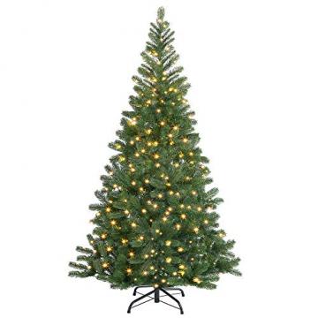 Casaria Weihnachtsbaum 140 cm LED Lichterkette Edeltanne Ständer künstlicher Tannenbaum Christbaum Weihnachten PE Grün - 9