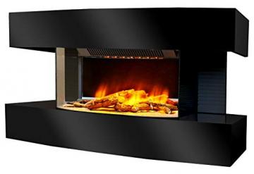 Chemin'Arte 184 Lounge Medium Elektrischer Kamin, schwarz, 82 x 21 x 42 cm - 1