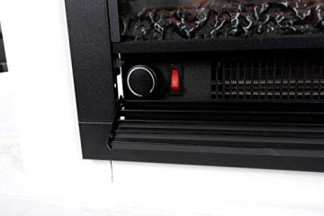 Classic Fire Elektrischer Kamin Lugano – Elektrokamin mit Feuereffekt – 1800 W – Schwarz - 4