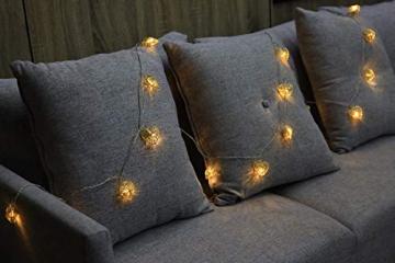 CozyHome LED Lichterkette Herz – 5m strombetrieben | 20 Herzen warmweiß | Led Herz Strom | Tumblr Deko für: Mädchen Schlafzimmer, Hochzeit, Schminktisch | Rosa Gold Lichterketten mit Stecker - 7