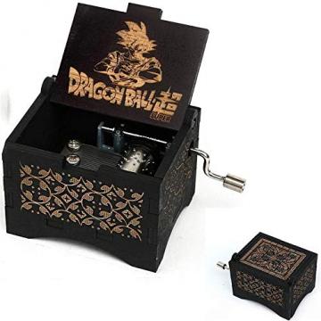 Cuzit DBZ Spieluhr, Holz, personalisierbare Spieluhr, Lasergravur, Vintage, Sonnenschein, Spieluhr, Geschenke für Geburtstag/Weihnachten - 1