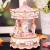 Docooler Mini Karussell Uhrwerk Spieluhr Bunte LED Merry-go-Round Spieluhr Geschenk für Freundin Kinder Kinder Weihnachten Festival - 2