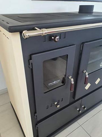 EEK A+ Kaminofen mit Backfach und Herdplatte Practik Lux Holzofen 9,5 kW Kamin Ofen Dauerbrandofen Werkstattofen Schwedenofen Hüttenofen Heizofen - 2