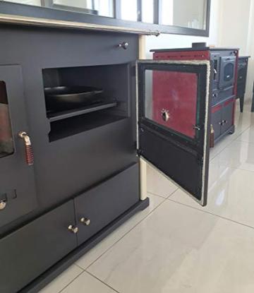 EEK A+ Kaminofen mit Backfach und Herdplatte Practik Lux Holzofen 9,5 kW Kamin Ofen Dauerbrandofen Werkstattofen Schwedenofen Hüttenofen Heizofen - 4