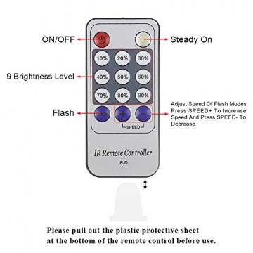 Erchen Strom-betrieben LED Lichterkette, 165 FT 500 LED 50M Stecker dimmbare Kupfer Draht Lichterketten mit 12V DC Adapter Fernbedienung für Innen Außen Weihnachten Party (warmweiß) - 6