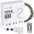 FairyTrees Micro LED Lichterkette für Weihnachtsbaum, FairyGlow 600 LEDs, Farbtemperatur 2700K (warmweiß), grüner Kupferdraht 30m (IP44), FG600 - 2