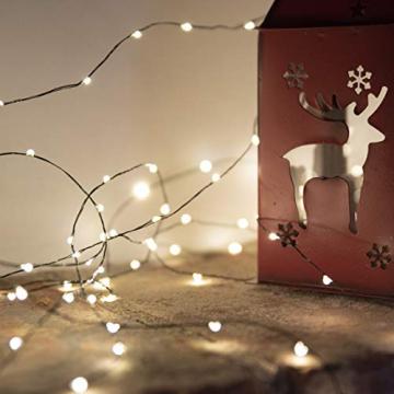 FairyTrees Micro LED Lichterkette für Weihnachtsbaum, FairyGlow 600 LEDs, Farbtemperatur 2700K (warmweiß), grüner Kupferdraht 30m (IP44), FG600 - 6