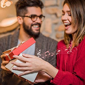 FGHFG Gravierte Weihnachten Handgemachte Hölzerne Spieluhr Geburtstagsgeschenk Tochter Liebhaber Geburtstagsgeschenk - 8