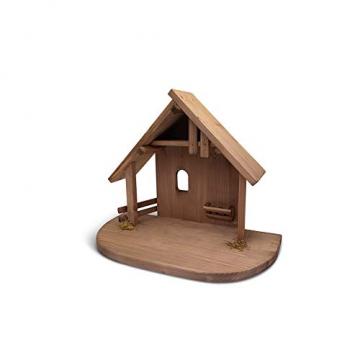 Fritz Cox® Holz-Krippen-Stall, Handarbeit aus Deutschland für EIN schönes Weihnachtsfest (Heide-Stall) - 2
