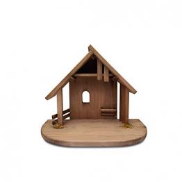 Fritz Cox® Holz-Krippen-Stall, Handarbeit aus Deutschland für EIN schönes Weihnachtsfest (Heide-Stall) - 1