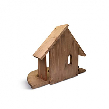 Fritz Cox® Holz-Krippen-Stall, Handarbeit aus Deutschland für EIN schönes Weihnachtsfest (Heide-Stall) - 4
