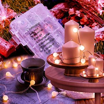 Globe Lichterkette für Innen und Außen, LED Kugel Lichterkette 8 Leuchtmodi, ideale Partylichterkette IP65 Wasserdicht mit IR Fernbedienung für Weihnachtsdeko, Hochzeit, Party , Garten - 6