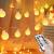 Globe Lichterkette für Innen und Außen, LED Kugel Lichterkette 8 Leuchtmodi, ideale Partylichterkette IP65 Wasserdicht mit IR Fernbedienung für Weihnachtsdeko, Hochzeit, Party , Garten - 1