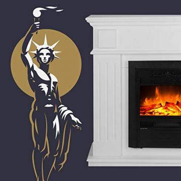 GLOW FIRE Helios Elektrokamin mit Heizung, Wandkamin und Standkamin mit LED | Künstliches Feuer mit zuschaltbarem Heizlüfter: 750/1500 W | Fernbedienung, Dimmer, Kaminsims, Weiß - 3