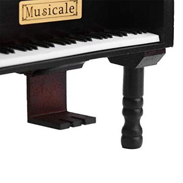 Grand Piano Shaped Wind Up Wooded Music Box, mit kleinem Hocker Creative Music Box Geschenk für Weihnachten/Geburtstag/Valentinstag, Melodie Castle in The Sky - 2