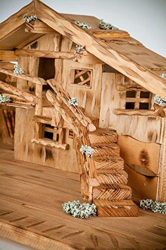 Große Weihnachtskrippe Krippe Krippenstall Weihnachten-Weihnachtskrippen-W009 - 2
