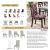 Hivexagon Beschützer Stuhlhussen 4er Set, Universal Stretch Stuhlkissen Sessel überzug stuhlbezüge Protector Cover für Weihnachten Haus Esszimmer Moderne Hochzeit Bouquet, Hotel, Restaurant Dekor - 4