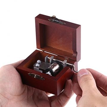 Holz Hand Kurbel Spieluhr, Vintage Spieluhr für Frau und Tochter, Geburtstag Weihnachten (Elise) - 2