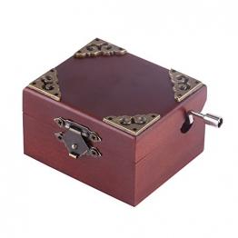 Holz Hand Kurbel Spieluhr, Vintage Spieluhr für Frau und Tochter, Geburtstag Weihnachten (Elise) - 1