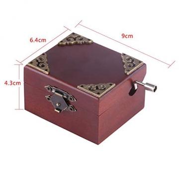 Holz Hand Kurbel Spieluhr, Vintage Spieluhr für Frau und Tochter, Geburtstag Weihnachten (Elise) - 5
