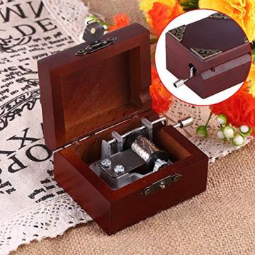 Holz Hand Kurbel Spieluhr, Vintage Spieluhr für Frau und Tochter, Geburtstag Weihnachten (Elise) - 6