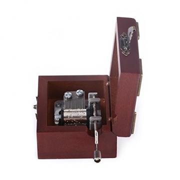 Holz Hand Kurbel Spieluhr, Vintage Spieluhr für Frau und Tochter, Geburtstag Weihnachten (Elise) - 7