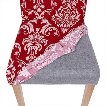 Homaxy Universal Stretch Stuhlhussen 2er 4er 6er Set Stuhlbezug für Stuhl Esszimmer (4er Set, Style 17) - 3