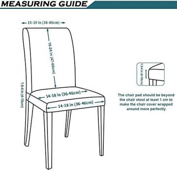 Homaxy Universal Stretch Stuhlhussen 2er 4er 6er Set Stuhlbezug für Stuhl Esszimmer (4er Set, Style 17) - 5