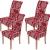 Homaxy Universal Stretch Stuhlhussen 2er 4er 6er Set Stuhlbezug für Stuhl Esszimmer (4er Set, Style 17) - 1