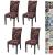JOTOM Stuhlhussen Universal Stretch Stuhlbezug Elastische Moderne Stuhl Hussen Set Abnehmbare Weihnachten Dekoration Stuhlabdeckung für Esszimmer Party Hotel Restaurant Deko (Kreis, 4er Set) - 1