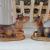 Krippenfiguren 12 er SET HANDBEMALT in edler Echtholz - Optik für Holz Weihnachtskrippe Zubehör, MIT HOLZ-BOX KFK-Box - saubere Gesichtszüge, feine Mimik, handbemalte Krippenfiguren, Zubehör - 4