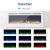 KUPPET 127 cm Elektrischer Kamin Versenkt und an der Wand Montiert mit Sicherheitsabschaltung & Digitaler LED-Anzeige, Touchscreen-Bedienbildschirm & Fernbedienung & Timer, Weißes Glas - 4