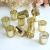 LA BELLEFÉE Kerzenhalter Kerzenständer Kandelaber Leuchter Romantische Kerzen, Kerzenständer für Hochzeit, Weihnachten und Geschenk, 12er Set - Gold - 4