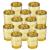 LA BELLEFÉE Kerzenhalter Kerzenständer Kandelaber Leuchter Romantische Kerzen, Kerzenständer für Hochzeit, Weihnachten und Geschenk, 12er Set - Gold - 1