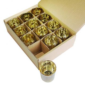 LA BELLEFÉE Kerzenhalter Kerzenständer Kandelaber Leuchter Romantische Kerzen, Kerzenständer für Hochzeit, Weihnachten und Geschenk, 12er Set - Gold - 7