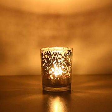 LA BELLEFÉE Kerzenhalter Kerzenständer Kandelaber Leuchter Romantische Kerzen, Kerzenständer für Hochzeit, Weihnachten und Geschenk, 12er Set - Gold - 8