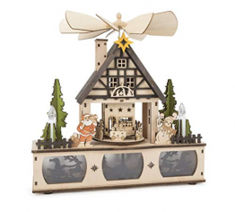 Lampe mit Weihnachtspyramide - 1