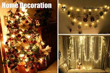 LED Lichterkette 4M/13.2ft Weihnachtsdeko 40er Warmweiß Sternen Lichterkette, Weihnachten Innen Deko 4.5v Lichterkette Batterie,Lichterkette Weihnachtsbaum,Lichterketten für Zimme,MEHRWEG - 6