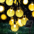 Lezonic Solar Lichterkette aussen, 50LED 23 ft 8 Modi Solar Kristallkugeln wasserdicht Außen/Innen Lichter Beleuchtung für Garten, Balkon, Bäume, Hochzeiten, Partys, Weihnachten (warmweiß) - 1