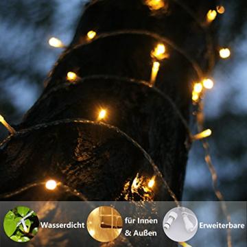 Lichterkette Strombetrieben, von myCozyLite®, 15m mit EU stecker, 100er Warmweiß LED für Innen und Außen Deko wie Weihnachten, Party, Garten, Hochzeit, Erweiterbar, mit 31V DC Transformator und Timer - 3