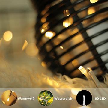 Lichterkette Strombetrieben, von myCozyLite®, 15m mit EU stecker, 100er Warmweiß LED für Innen und Außen Deko wie Weihnachten, Party, Garten, Hochzeit, Erweiterbar, mit 31V DC Transformator und Timer - 5