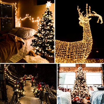 Lichterkette Strombetrieben, von myCozyLite®, 15m mit EU stecker, 100er Warmweiß LED für Innen und Außen Deko wie Weihnachten, Party, Garten, Hochzeit, Erweiterbar, mit 31V DC Transformator und Timer - 6