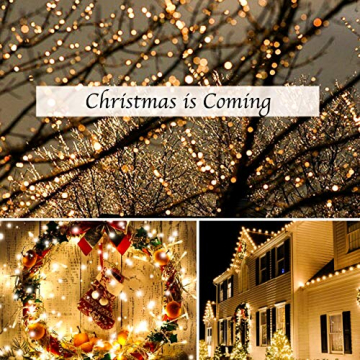 Lichterkette Strombetrieben, von myCozyLite®, 15m mit EU stecker, 100er Warmweiß LED für Innen und Außen Deko wie Weihnachten, Party, Garten, Hochzeit, Erweiterbar, mit 31V DC Transformator und Timer - 7