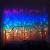 Lichterketten Vorhang Lichterkette Vorhang Innen Led Lichtervorhang Bunt Warmweiß Regenbogen Deko Lichterkette Kinderzimmer Mädchen Hochzeit Party Weihnachtsdeko Fenster Dekoration (icicle) - 3