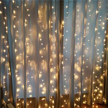 Lichterketten Vorhang Lichterkette Vorhang Innen Led Lichtervorhang Bunt Warmweiß Regenbogen Deko Lichterkette Kinderzimmer Mädchen Hochzeit Party Weihnachtsdeko Fenster Dekoration (icicle) - 6