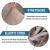 LINGKY Samt Esszimmer Stuhlhussen Stretch Stuhlhussen Für Esszimmer Parson Stuhl Schonbezüge Stuhl Schutzhüllen Esszimmer, Soft Thick Solid Velvet Fabric Washable (Taupe,Set of 6) - 2
