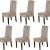 LINGKY Samt Esszimmer Stuhlhussen Stretch Stuhlhussen Für Esszimmer Parson Stuhl Schonbezüge Stuhl Schutzhüllen Esszimmer, Soft Thick Solid Velvet Fabric Washable (Taupe,Set of 6) - 1
