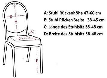 Littleprins Stuhlhussen 6er Set Stuhlbezug elastische Hussen für Stühle Schwingstühle Stretch Stuhlüberzug für Esszimmer Stuhl Hochzeit Partys Bankett (lila) - 3